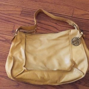 Yellow leather lucky brand purse